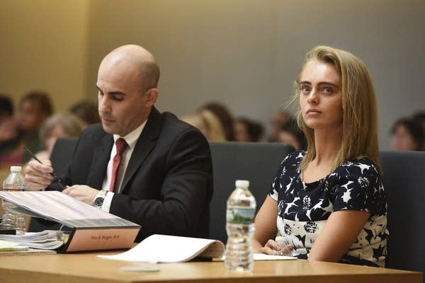 Defense Attorney Cory Madera and defendant Michelle Carter