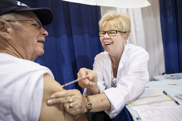Flu shots at the state fair