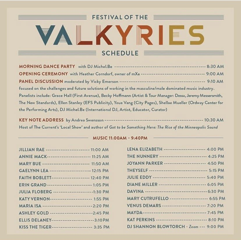 Festival of the Valkyries Lineup