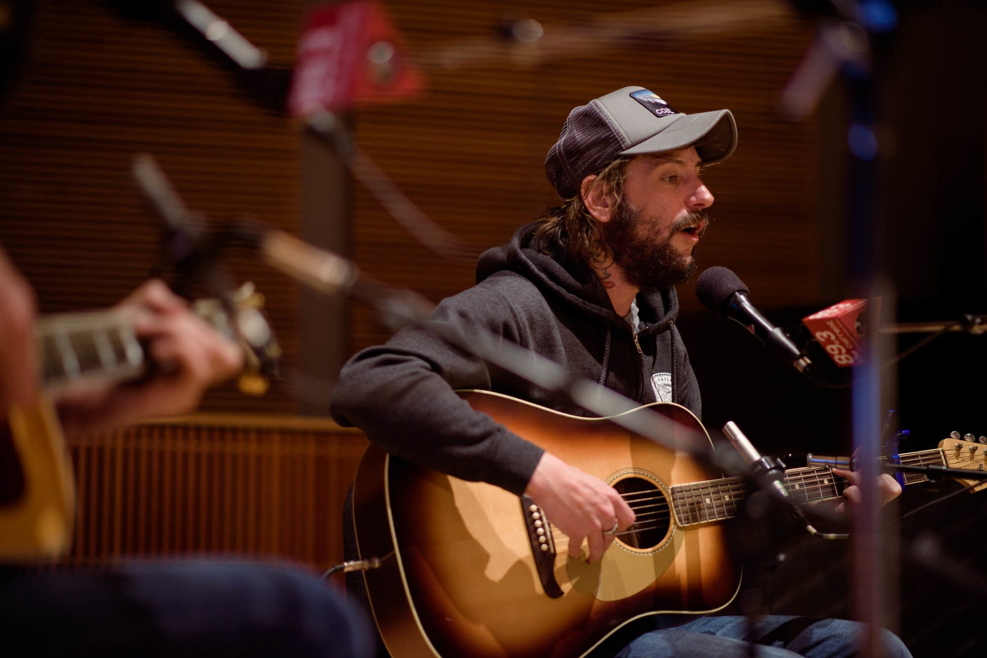 Ben Bridwell of Band of Horses in studio