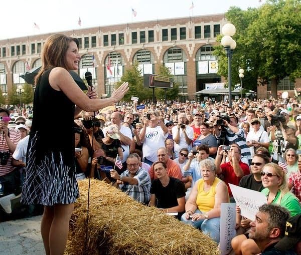 Bachmann speaks at Iowa fair