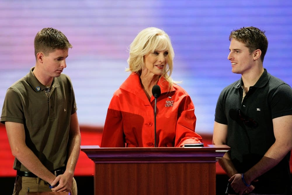 Cindy McCain and her sons do a soundcheck