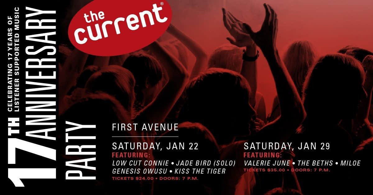 The Current's 17th Anniversary Party graphic 1200x628 with artists