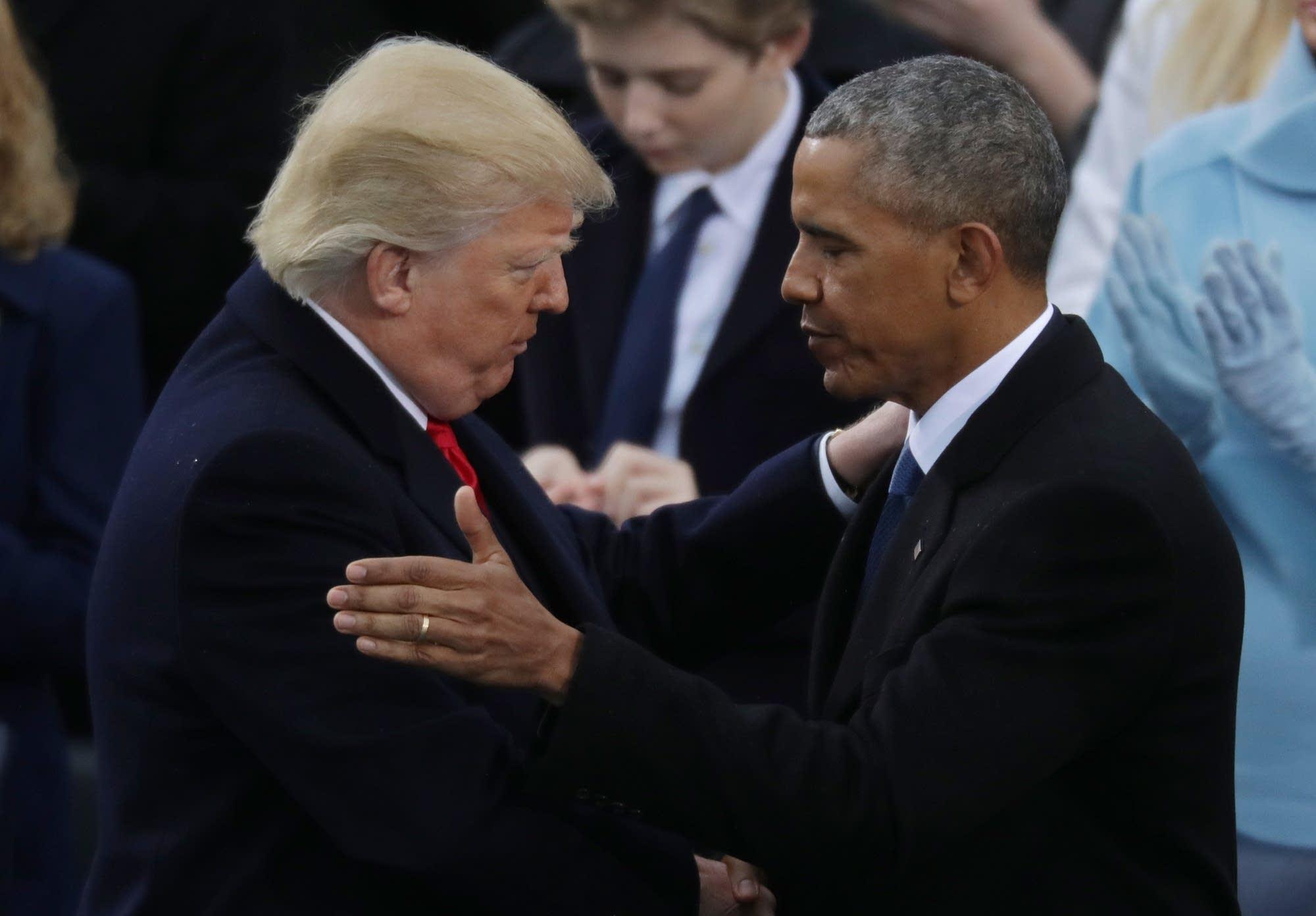 Former President Barack Obama congratulates President Donald Trump.