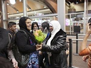 Airport greeting