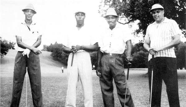Golfers Jack Howard, Cleo Johnson, Ernie Harris and Wilbur Dugas.