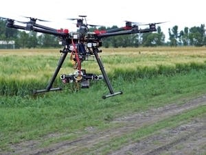 U researchers are using drones for crop research.