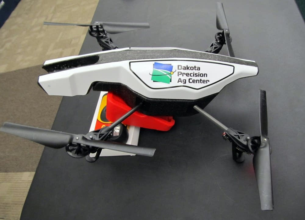 A small quadcopter used to monitor cattle