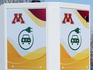 A new fast charger for electric vehicles at the U of M Morris.
