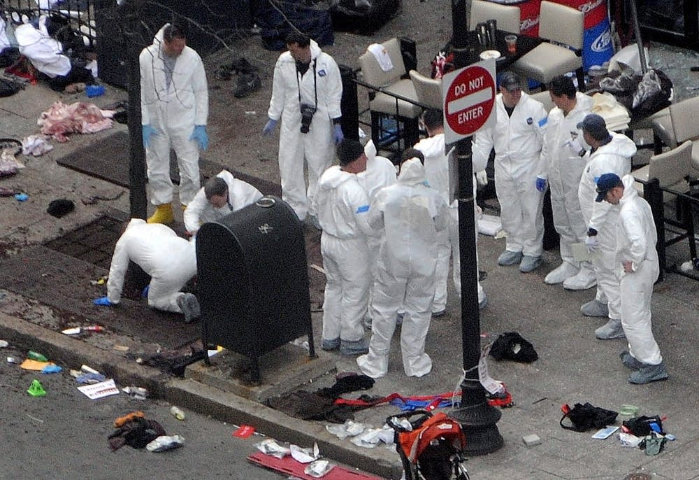 Boston bombing crime scene