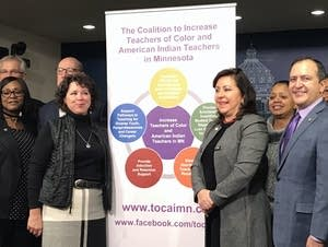 Legislators and supporters introduce bill to recruit more diverse teachers.