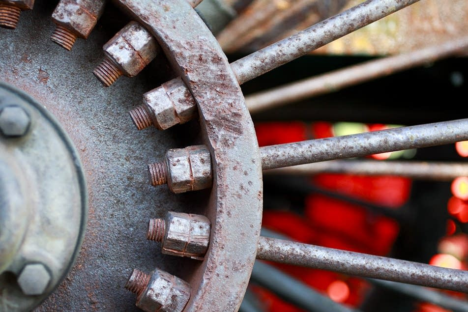 Tractor wheel.