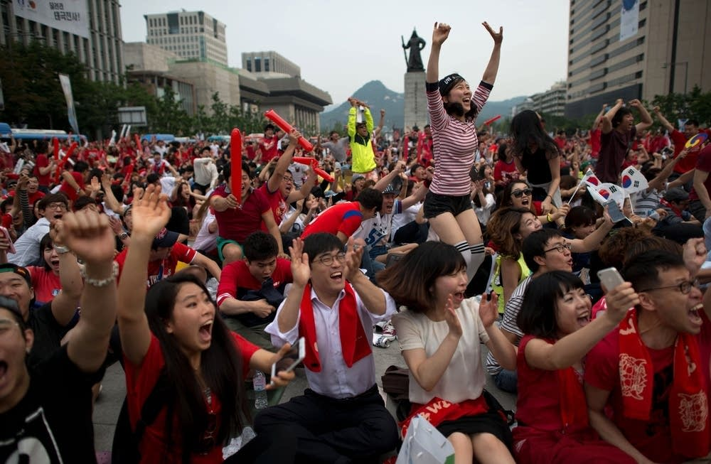 South Korean football fans