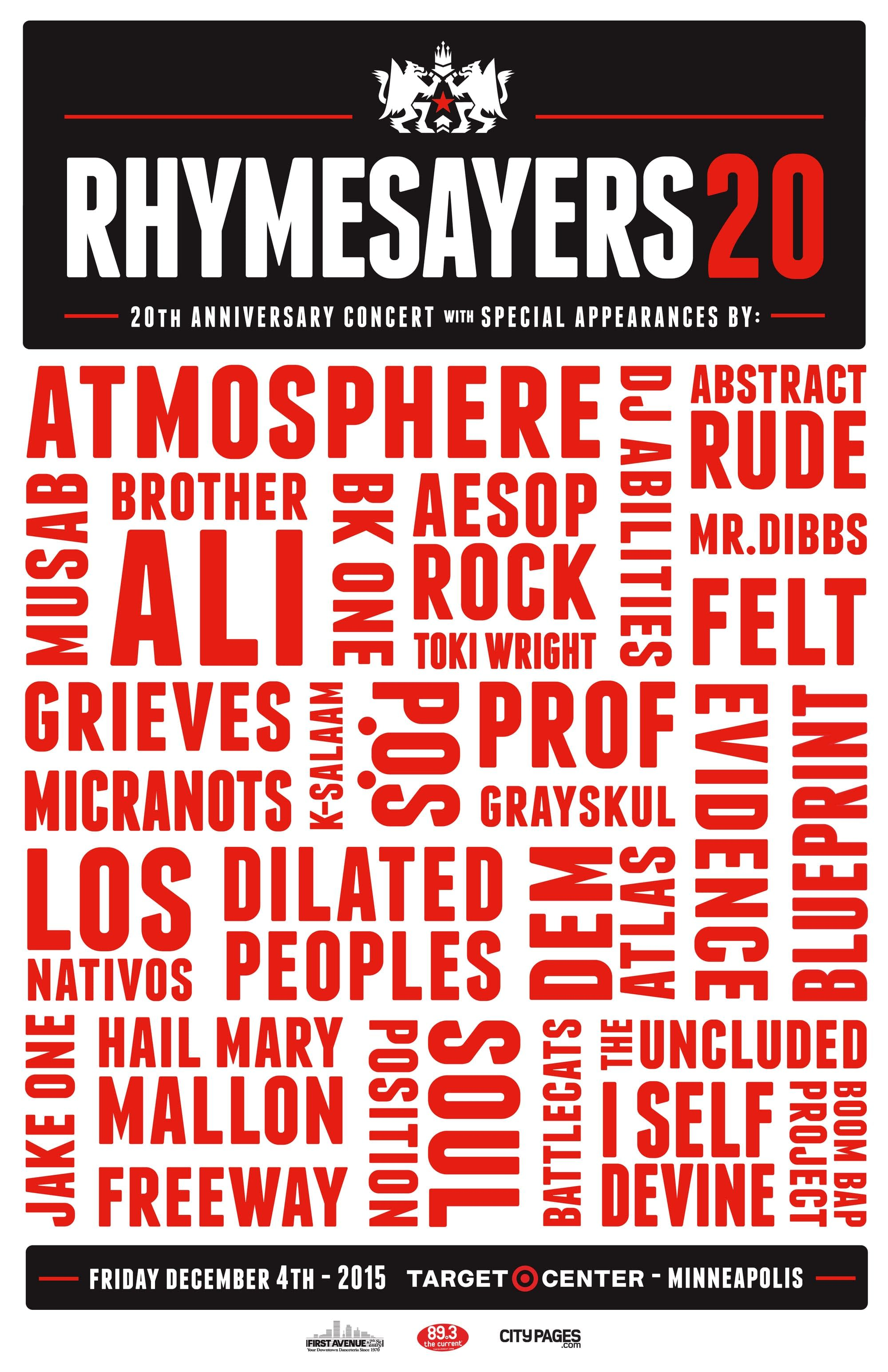 Rhymesayers 20th Anniversary Concert
