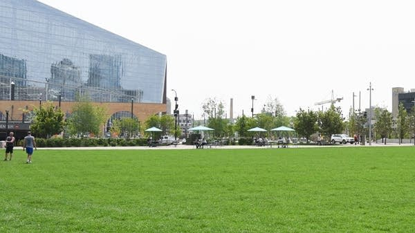 The Commons, a 4.2-acre park outside U.S. Bank Stadium.