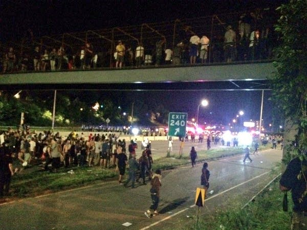 Protesters shut down I-94 near Lexington.