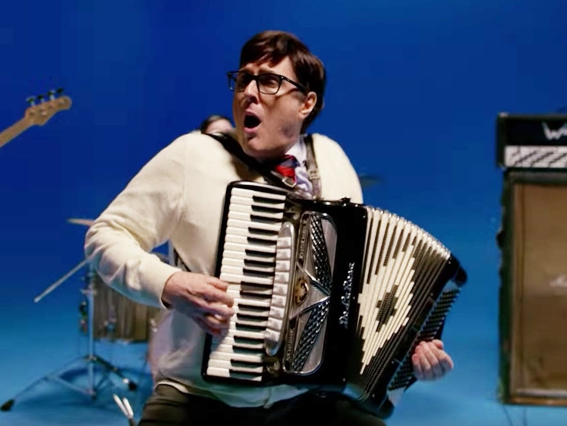 'Weird Al' Yankovic in Weezer's 'Africa' video.