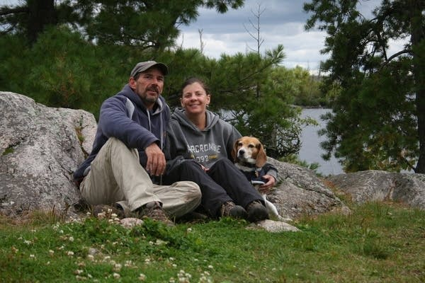 Greg Welch and his wife Julie who survived the Pagami Creek Fire.