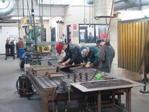 Welding students at Dakota County Technical College