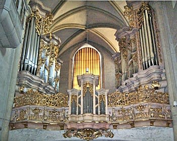 1714 Sieber organ at Michaelerkirche, Vienna, Austria
