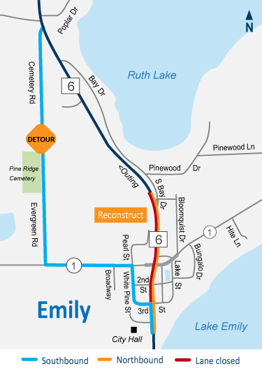 Highway 6 Emily reconstruction