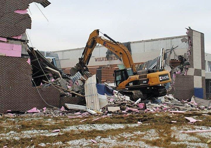 Demolition begins