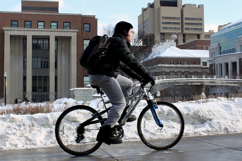 Biking to class