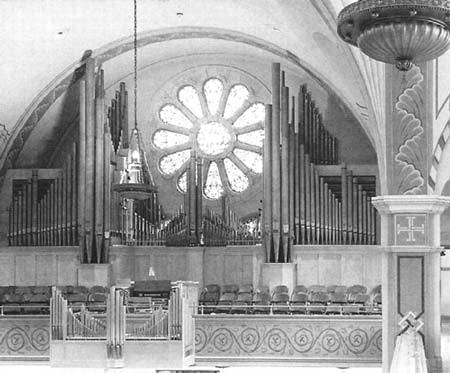1954 Aeolian-Skinner organ at Saint John Evangelical Lutheran Church,...