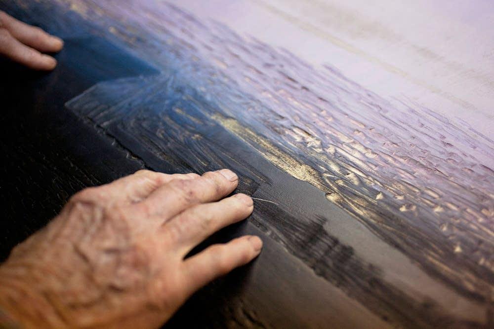 The artist's hands