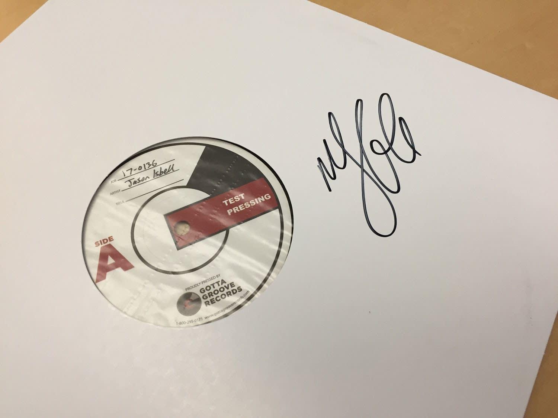 Autographed Jason Isbell vinyl test pressing