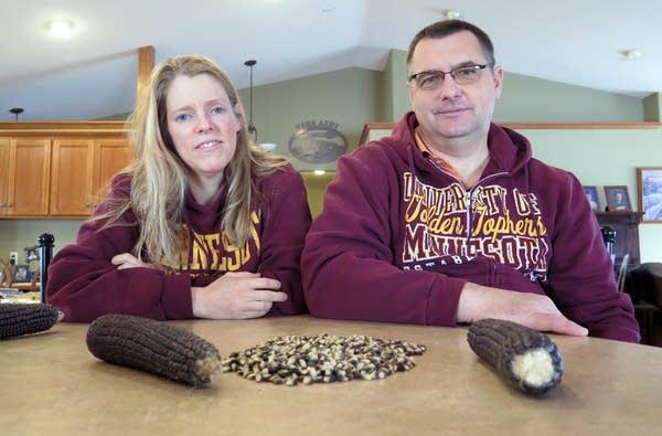 Theresa and Bryan Kerkaert are organic farmers.