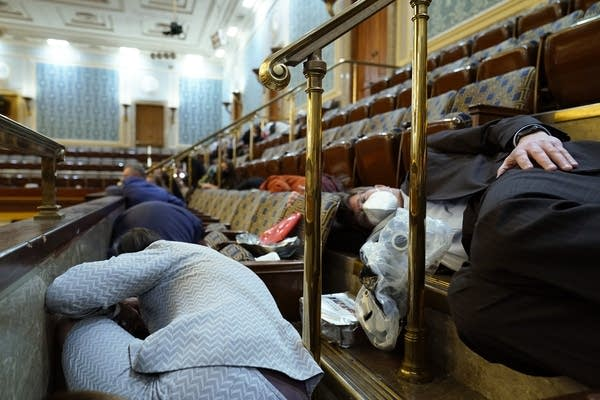 People shelter in the House gallery