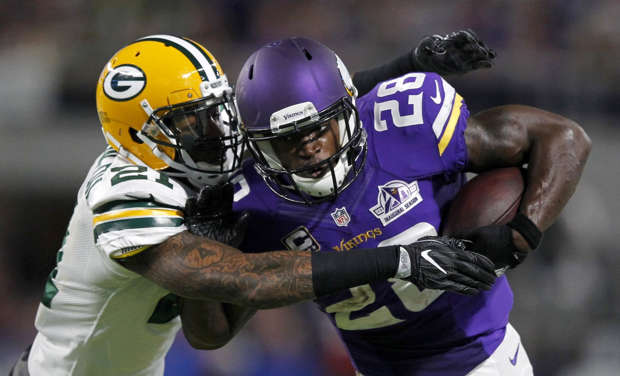 Adrian Peterson, Ha Ha Clinton-Dix