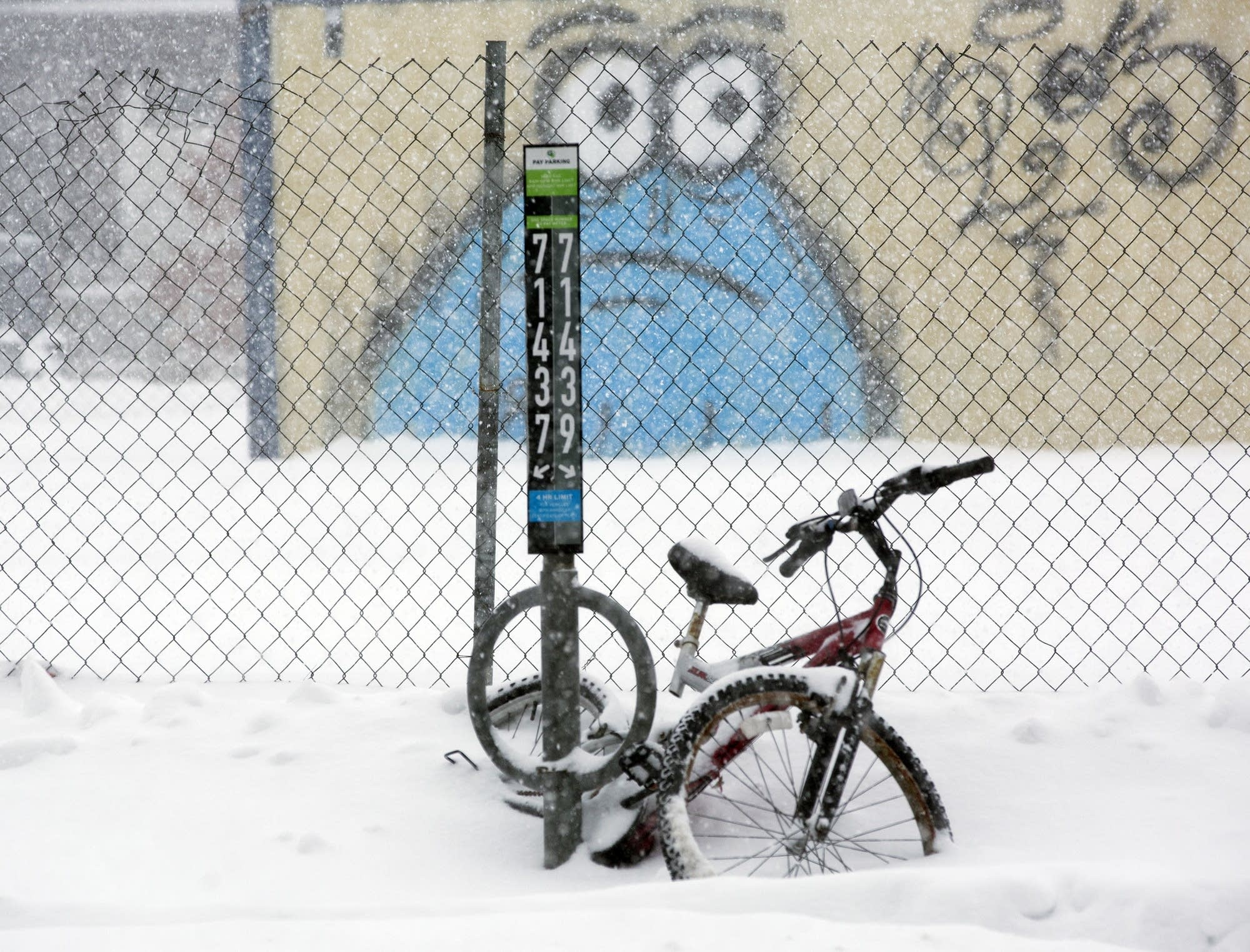 A stranded bike in Minneapolis.