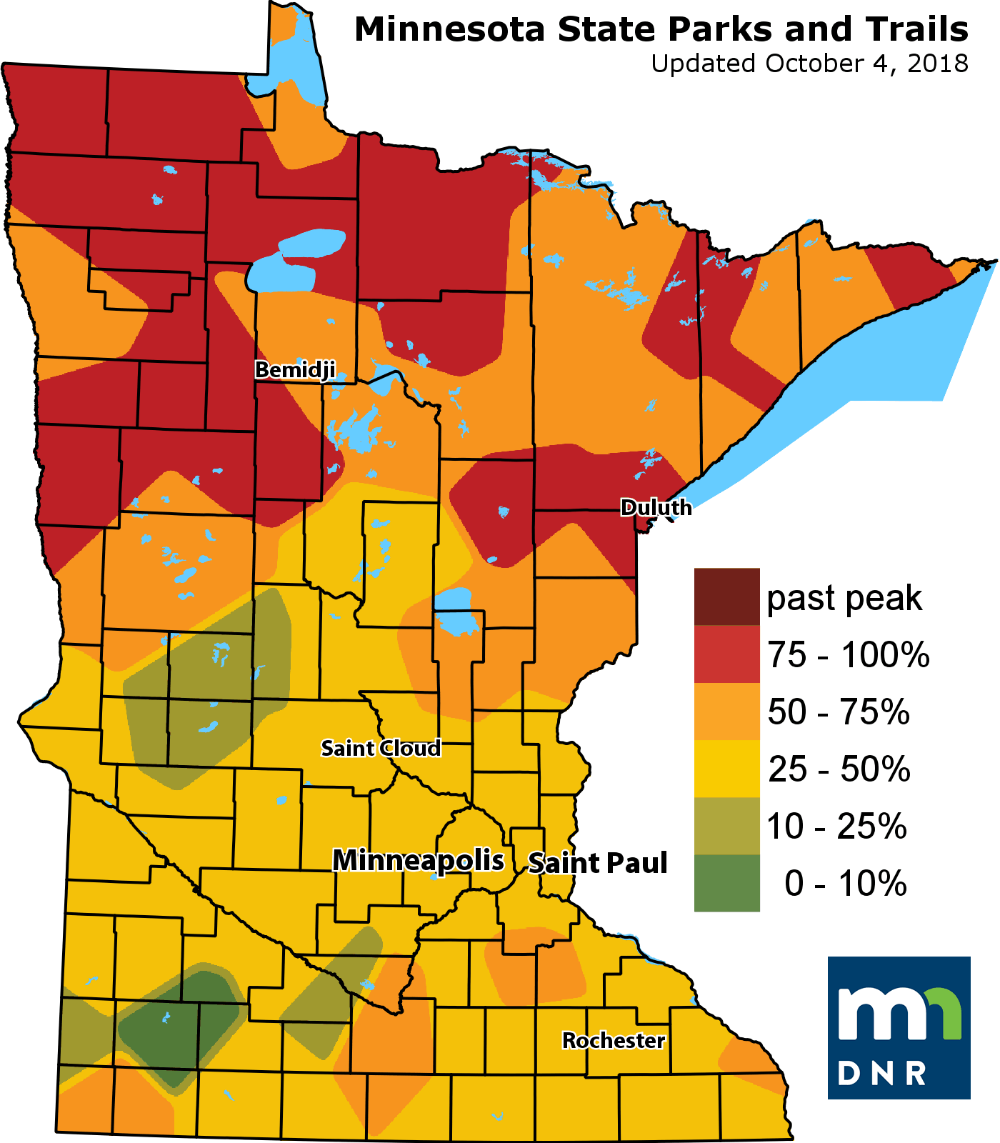 Oct 4 Fall color map