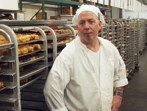 Danny Klecko at the Grandma's Bakery production facility.