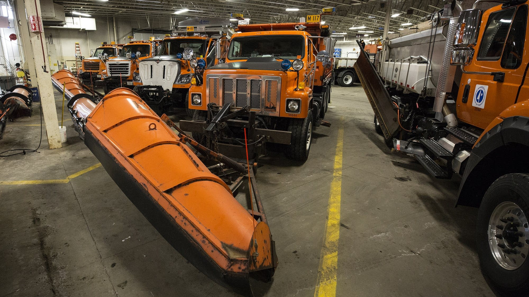 MN DOT's District 3 St. Cloud facility has a fleet of 22 trucks.