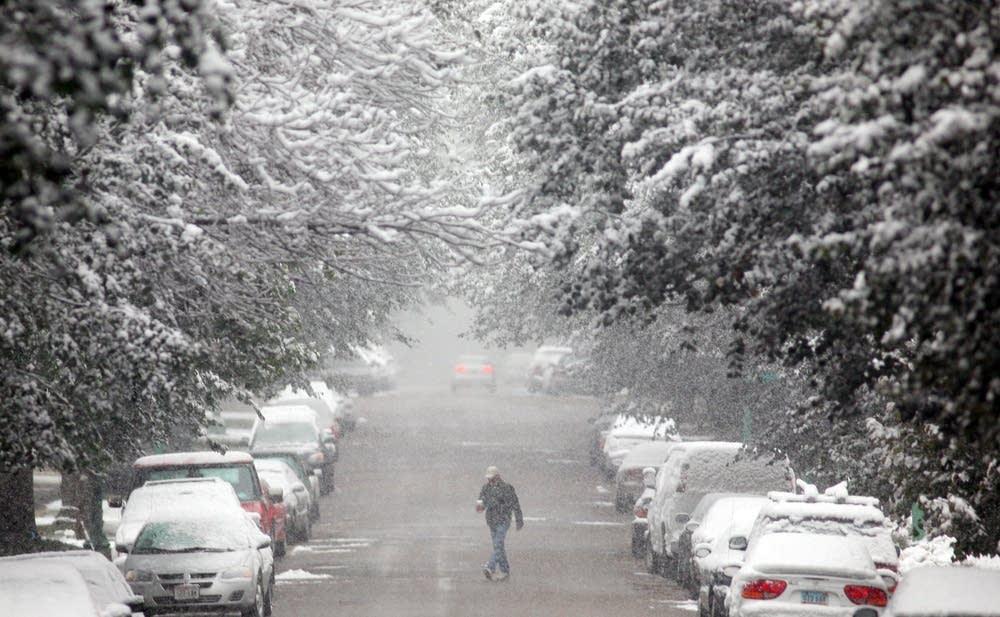 Snowy Ashland Avenue