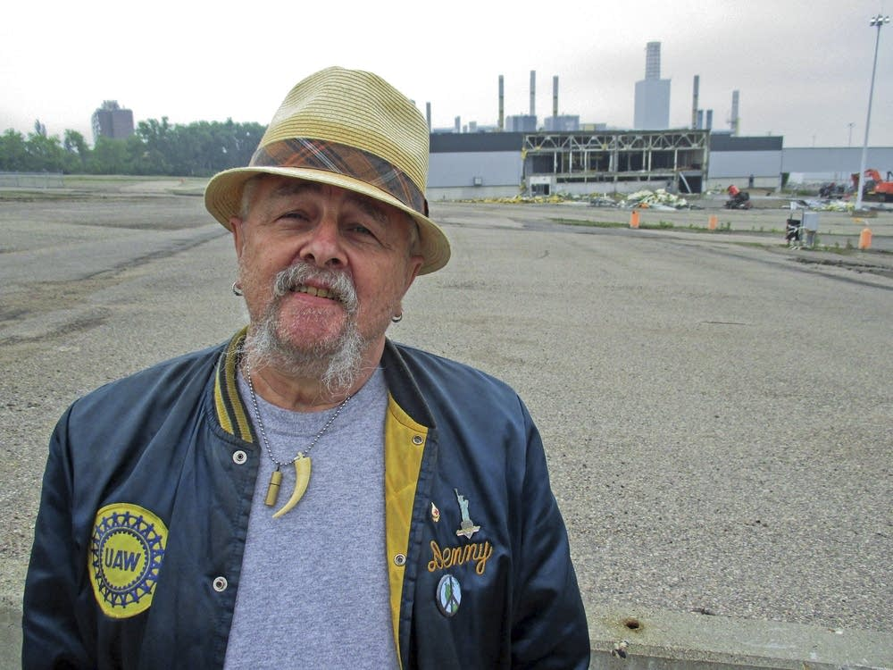 Retired auto worker Denny Dickhausen