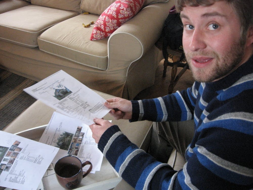 Josh Dix looks at house listings