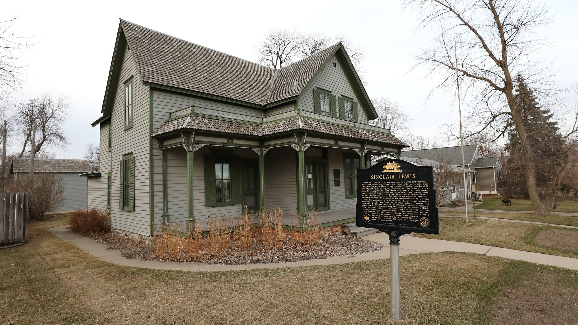 The childhood home of Sinclair Lewis sits just a few blocks off of Main St.