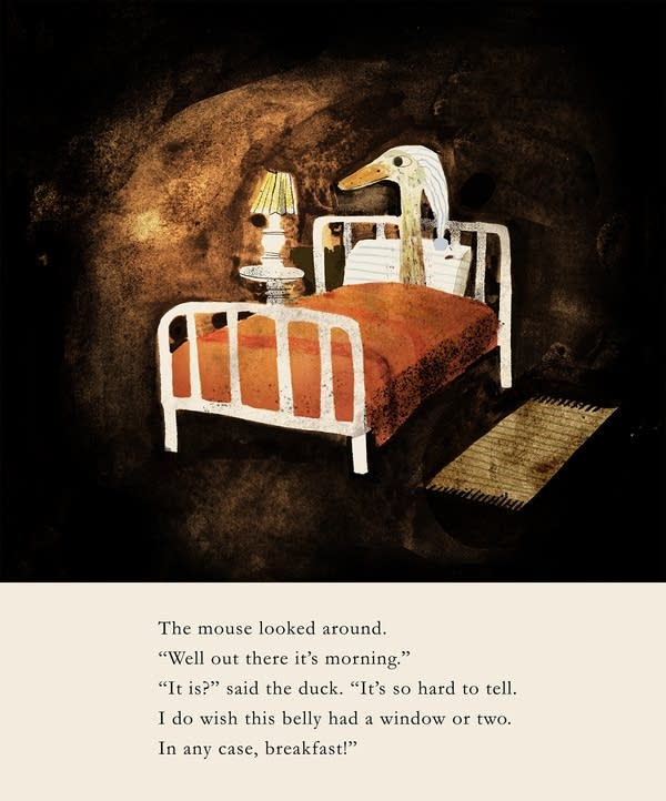 Illustrations from Jon Klassen for The Wolf, the Duck and the Mouse
