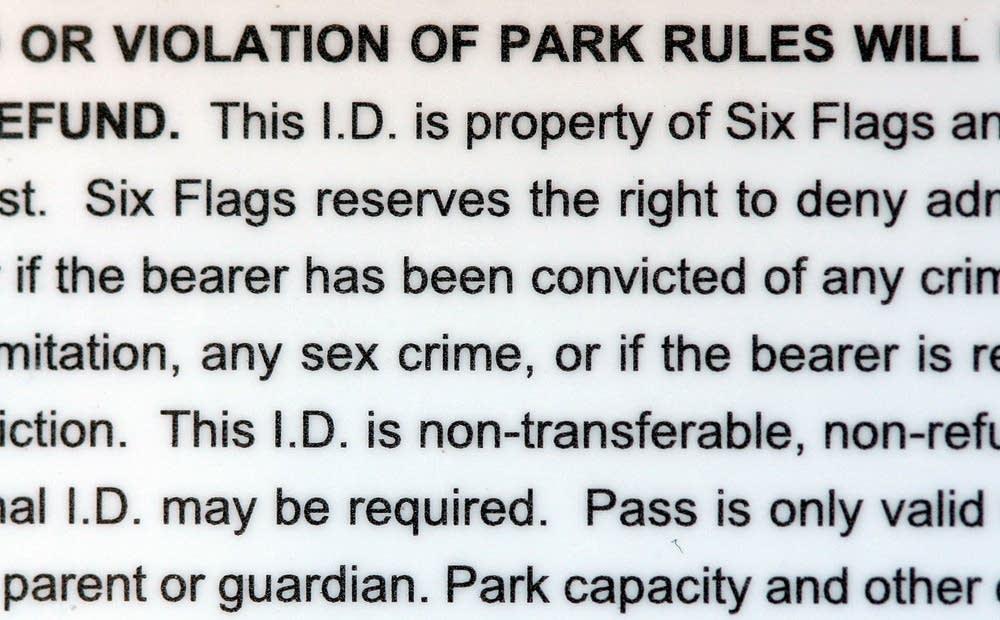 Amusement parks target sex offenders