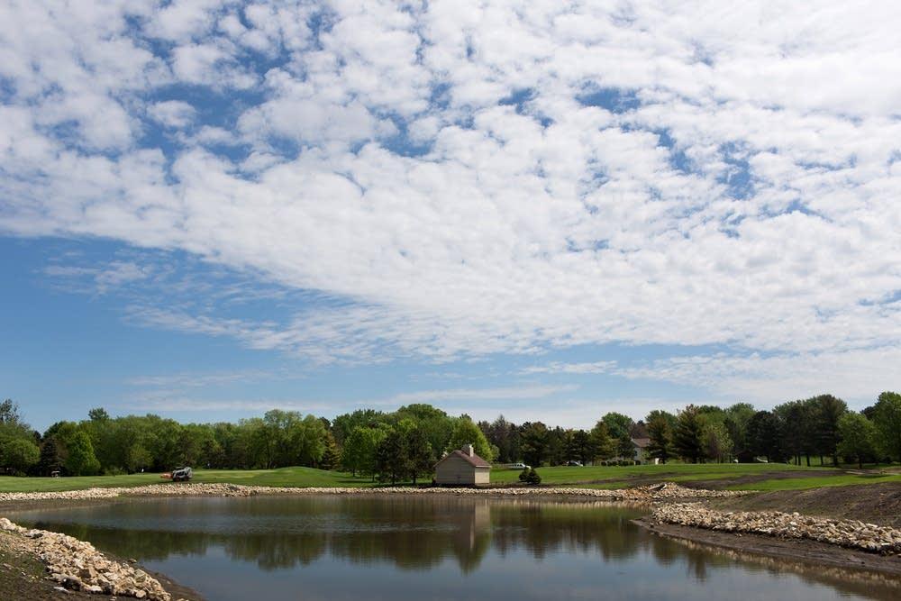 Storm water retention pond