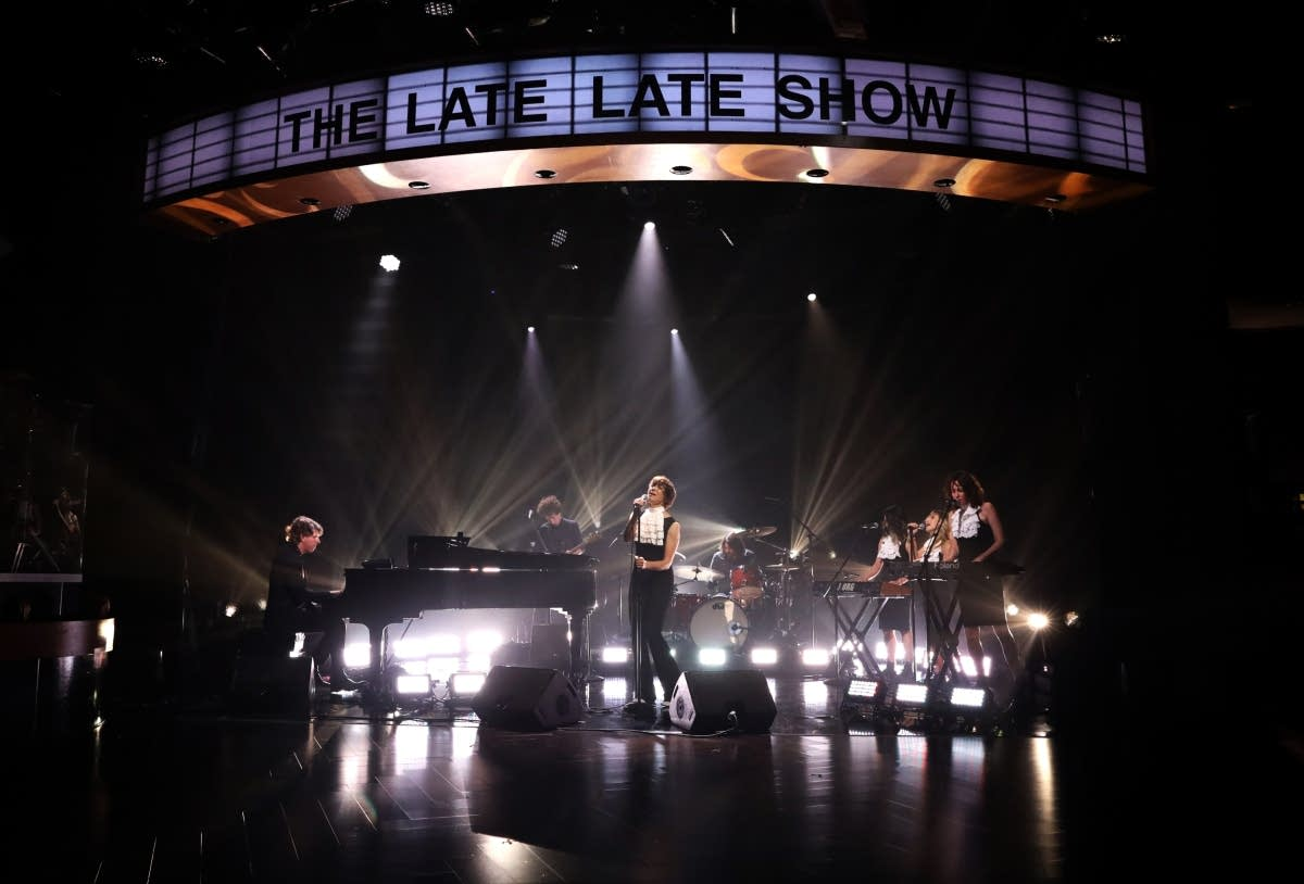 The Bird and the Bee with Dave Grohl on 'The Late Late Show' on CBS