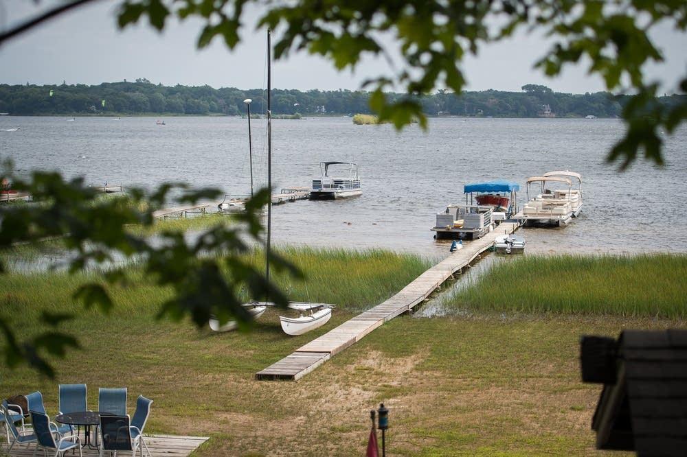 Docks on White Bear Lake have gotten shorter .