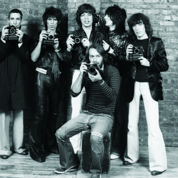 Ken Regan with the Rolling Stones