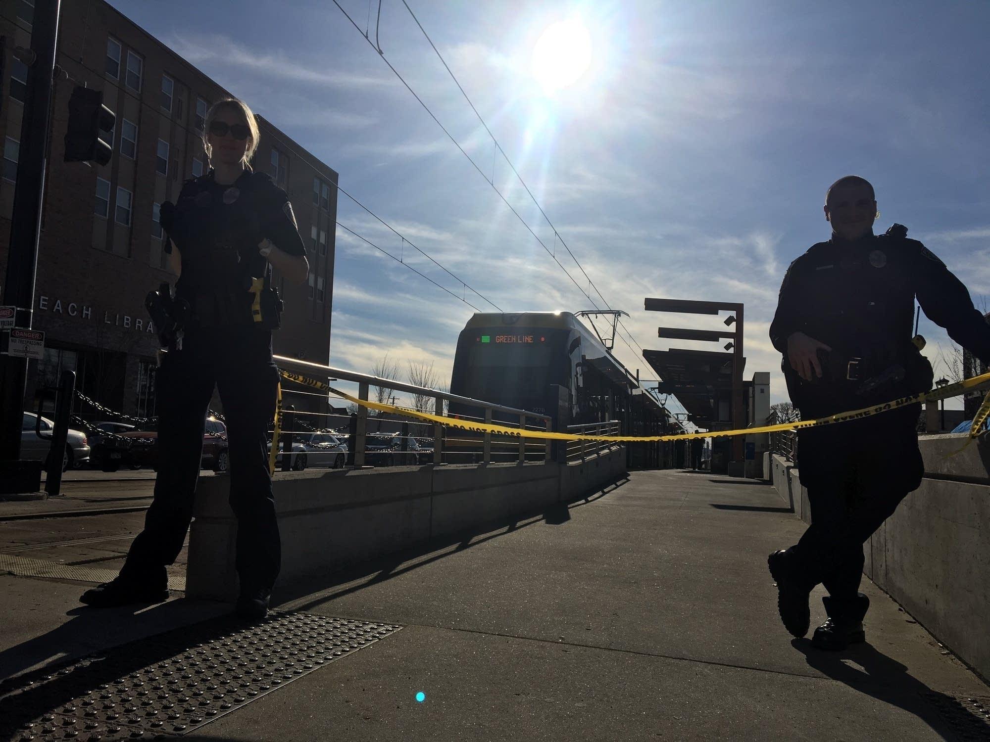 Green Line train after shots were fired