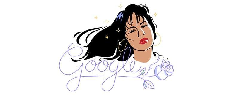 A doodle celebrating the late Selena.