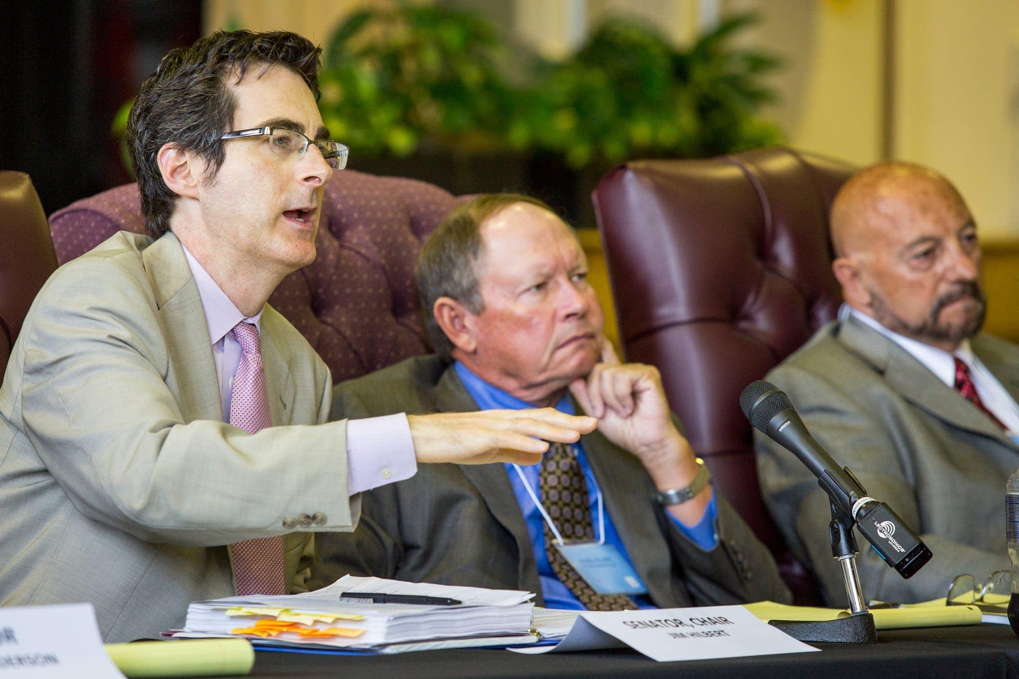 Jim Hilpert questions expert witnesses.